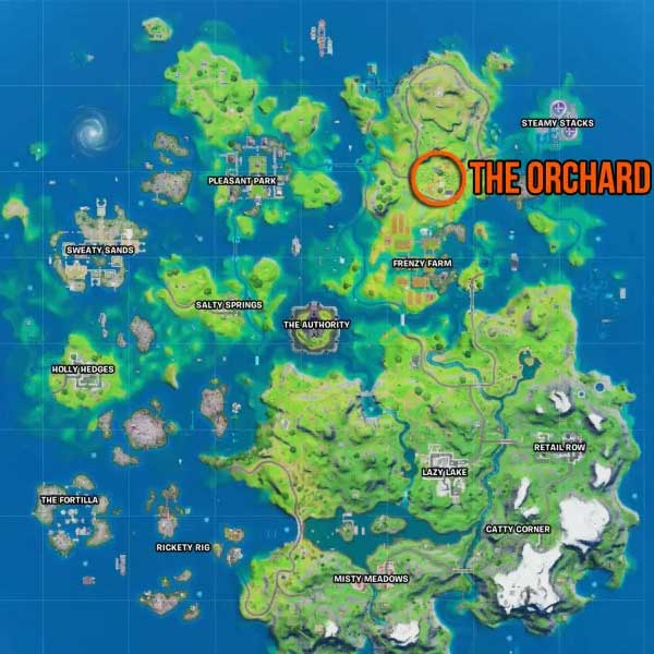 Fortnite Orchard location