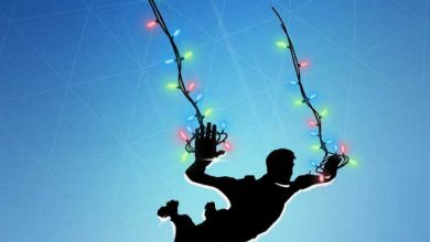 String Lights Contrail