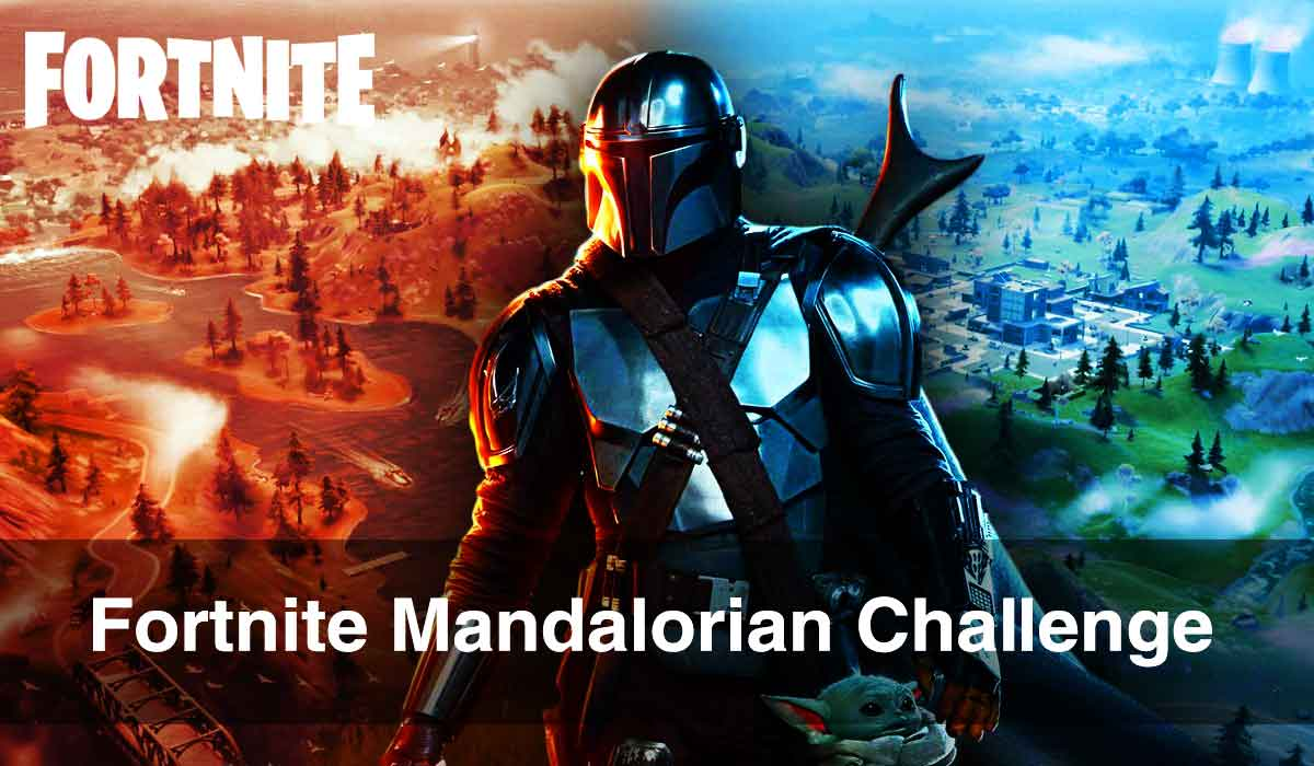 Fortnite Mandalorian Challenge