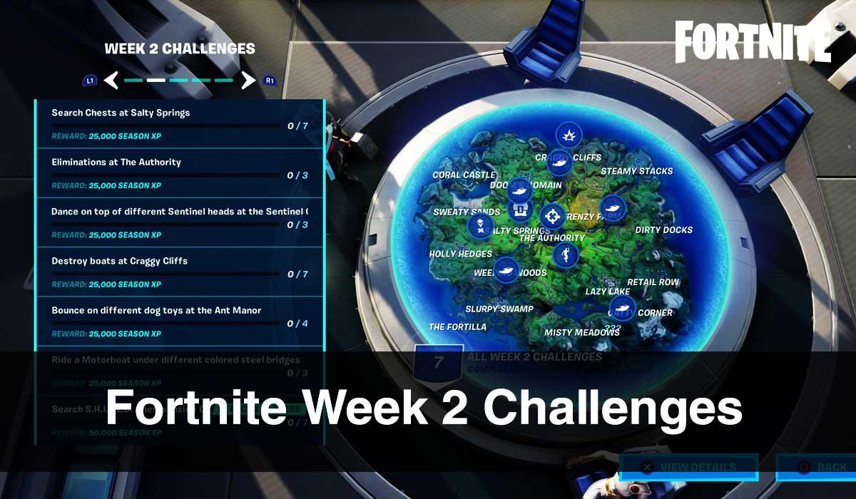 Fortnite Week 2 Challenges
