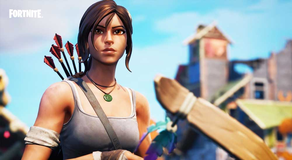 lara croft fortnite